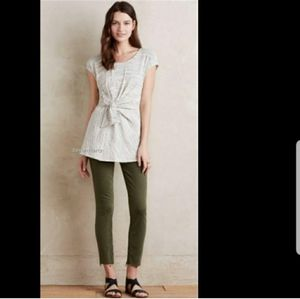 Anthropologie spacedyed gray faux wrap tunic top